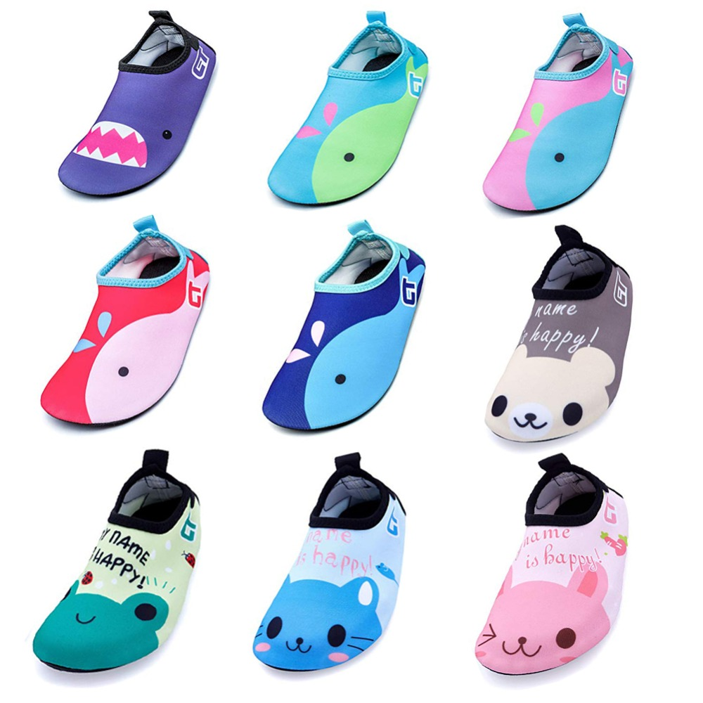 Baby Boys Girls Diving Swim Beach Shoes Treadmill Gym Shoes Animal Water Shoes Quick Drying Barefoot Aqua Socks for Beach Pool