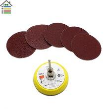 51PC/Set Mix Grit 2 inch 50mm Sander Disc Sand Paper Sanding Polishing Pad Plate 60 80 120 150 180 Grit For Dremel Accessories