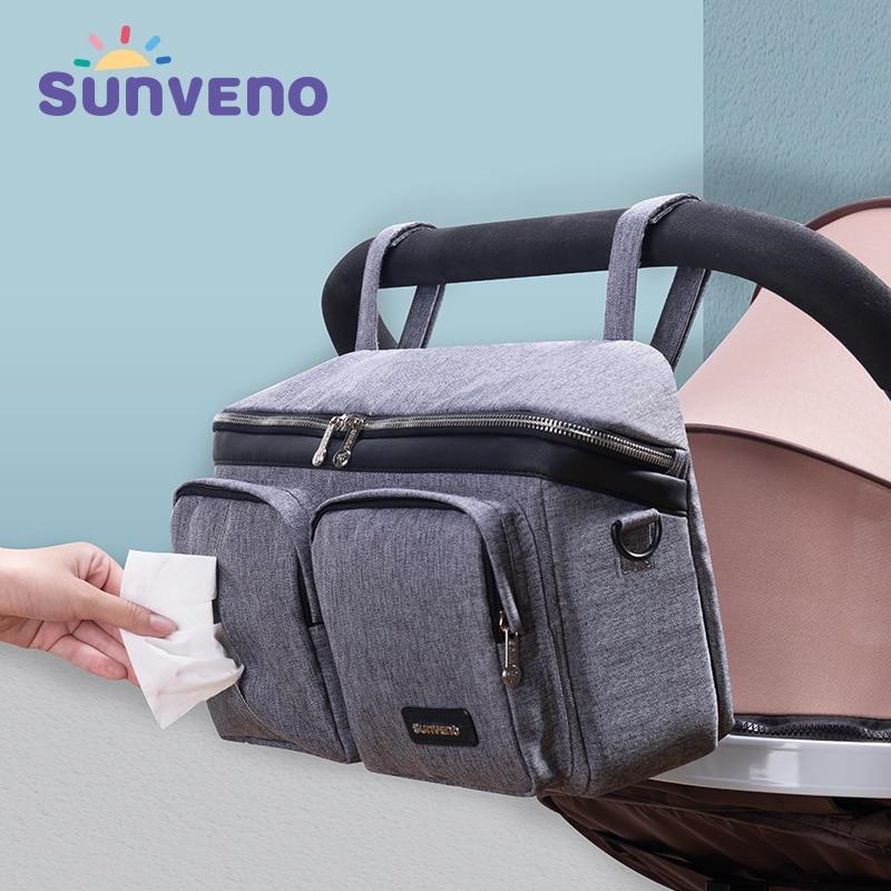 SUNVENO Fashion Mummy Maternity Nappy Bag Brand Large Capacity Baby Bag Travel Backpack Designer Nursing Bag For Baby Care