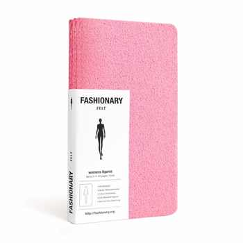 Womens Mini Felt Sketch Book Fashion Dictionary and Womens Figure Templates Mode Schets Boek Sketching on our Palm 9*16cm - DISCOUNT ITEM  18% OFF All Category