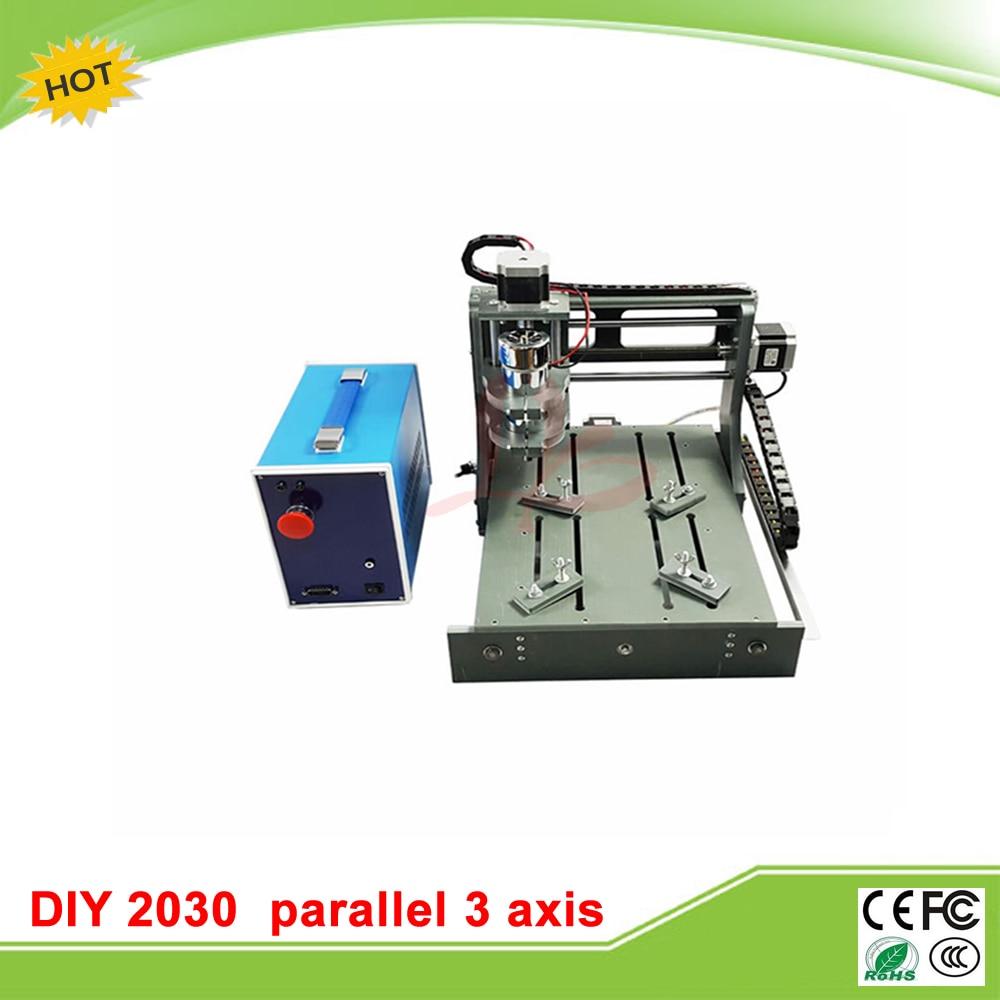 Taxe gratuite à RU CNC machine à découper 2030 port parallèle 4 axes CNC routeur