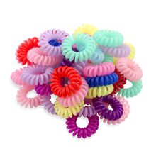 1pc Telephone Line Hair Ring Trumpet Elastic Hairbands Rubber Band Accessories Rope Headdress Spring Headbands