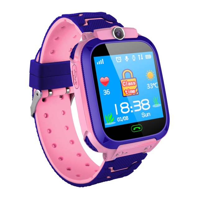 Waterproof Square Smart Watch with SOS Funcion