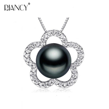 Fashion 925 sterling silver Pearl Pendant Necklace Jewelry Natural Freshwater 10-11mm big Pearl Pendants Pearl Jewelry For Women надувной матрас intex 152x203x51cm 64446