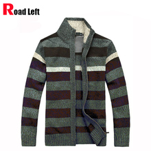 2017 Autumn/Winter Men's Turtleneck Thickening Cardigan Male Top Quality Wool Blended Knitted Sweaters 4 Color Plus Size M-3XL