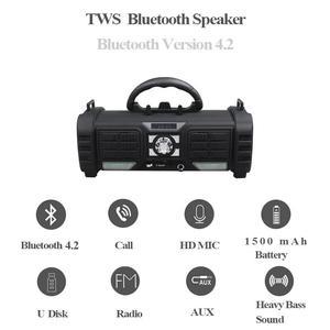 Image 3 - Yilinesye مكبر صوت بخاصية البلوتوث قابل للنقل دعم TF بطاقة FM راديو لاسلكي للماء العمود مضخم صوت مكبرات الصوت من الكمبيوتر المتكلم