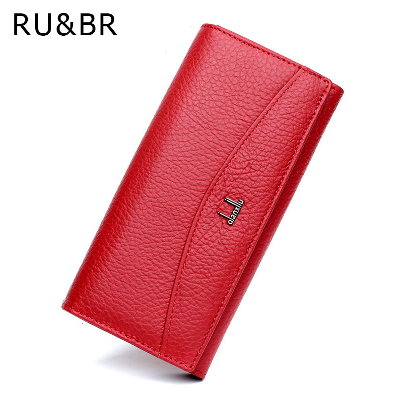 DreamShining Genuine Leather Wallet Simple Women Wallets Purse Cowhide Women's Clutch Credit Cion Pocket Card Holder