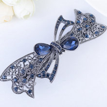 Characteristic Fashion Womens  Butterfly Hairpin Vintage Rhinestone Flower Hair Pin Barrette Clip Styling