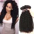 Лучшее Качество Необработанные Богородицы Перуанский Kinky Вьющиеся Человеческих Волос 4 Связки Топ Продаж Перуанский Девственница Странный Вьющиеся Волосы Естественного Цвета