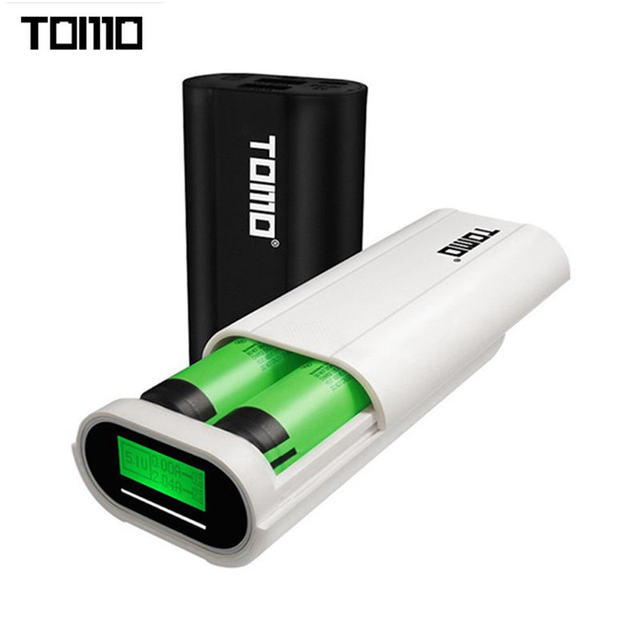 Original TOMO T2 Dual USB Ports DIY 18650 Battery Charger Power Bank Case for Mobile Phone for MP3 for MP4