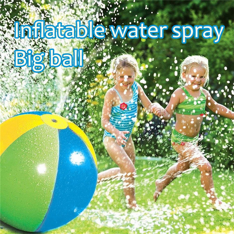 Splash And Spray Ball, 30in-Diameter Inflatable Sprinkler Water Ball Outdoor Fun Toy For Hot Summer Swimming Party Beach 40AP30