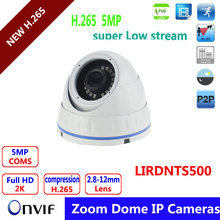2016 Newest Item H.265 POE DOME Camera ,5MP Full HD super low stream  3.6mm Fixed lens Day/Night  Version