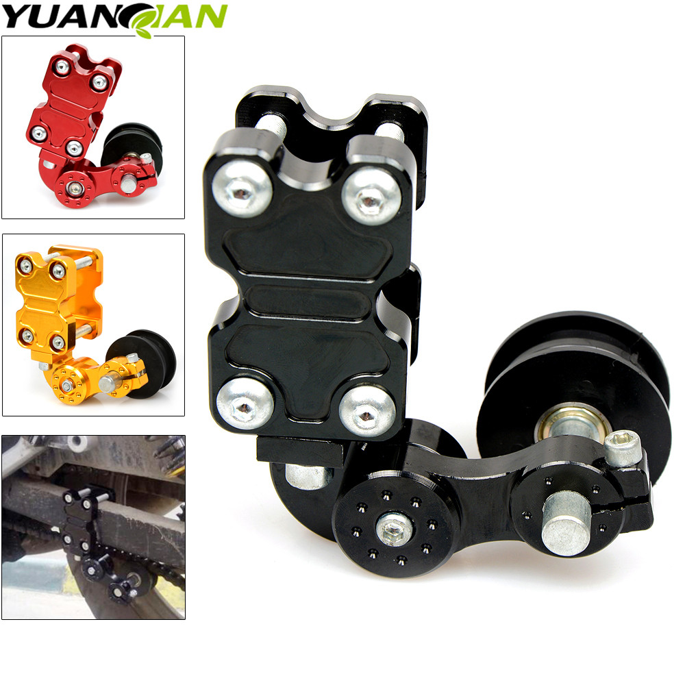 Motorcycle refires pieces motorcycle chain auto tensioner rubber chain tensioner Aluminum for yamaha kawasaki honda ktm ducati