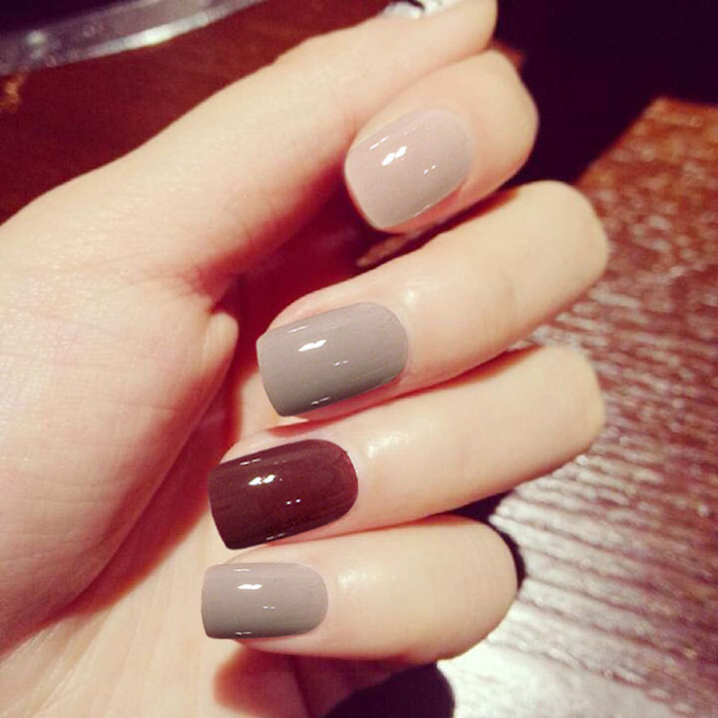 Online Shop New 24 pcs/lot classic fashion fake nails Jump color ...