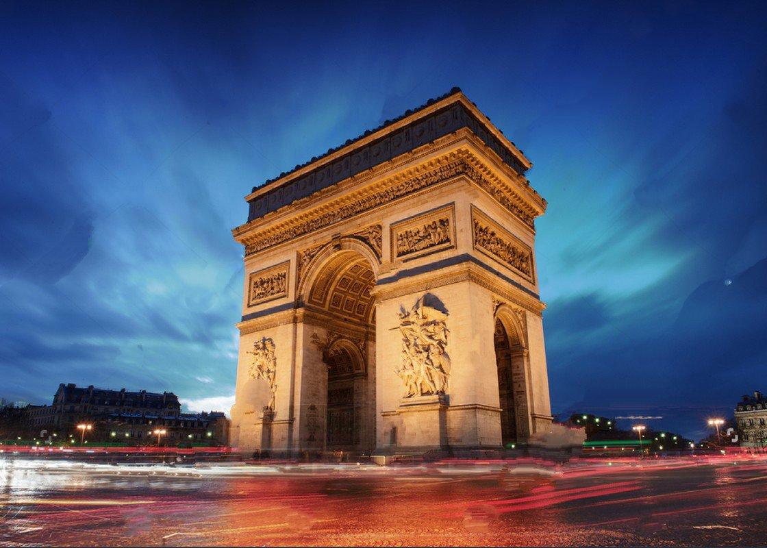 Arc De Triomphe Paris france City Sunset Arch Themed photo backdrop Vinyl cloth Computer print wall Backgrounds bergere de france baltic пряжа