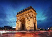 Arc De Triomphe Paris france Cidade Do Sol Arco Temático da foto do bebê pano de fundo de Vinil pano de impressão Do Computador de parede Fundos