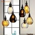 Винтажный скандинавский Лофт стеклянный подвесной светильник Led подвесной светильник кофейного цвета подвесной светильник для столовой
