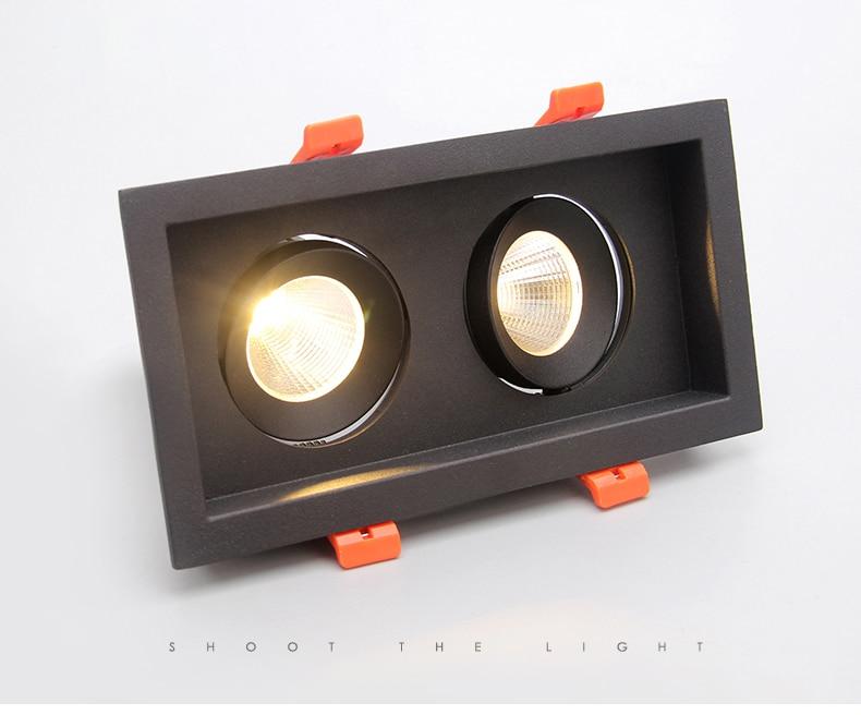 Ultrabright LEVOU downlight 2x10 w COB led