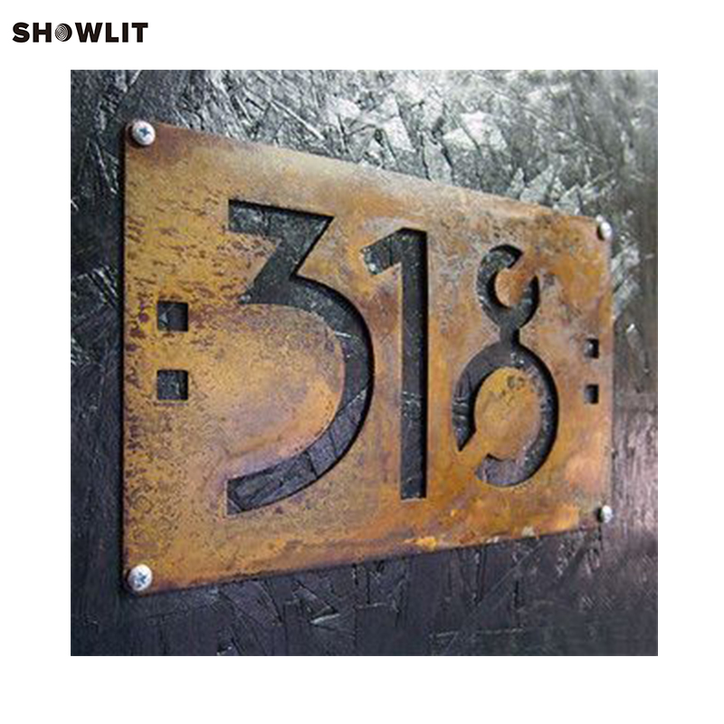 US $55 8 |Rusted Steel Custom Made Laser Cut House Signs-in Door Plates  from Home Improvement on Aliexpress com | Alibaba Group