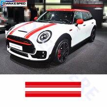 Цветные полосы, автомобильные наклейки, спортивные полосы, авто капот, наклейка для MINI Cooper S R56 R60 R61 F54 F55 F56, внешние аксессуары