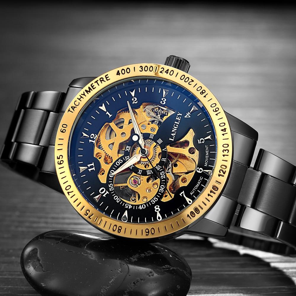 2018 Klassieke Horloges Heren Top Luxe Merk Hoge kwaliteit Skelet - Herenhorloges - Foto 4