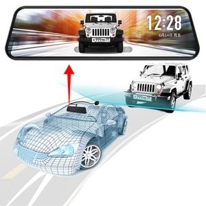 Image 2 - جادو D820s X2 جهاز تسجيل فيديو رقمي للسيارات تيار مرآة الرؤية الخلفية داش كاميرا avtoregistrator 10 IPS اللمس شاشة كامل HD 1080