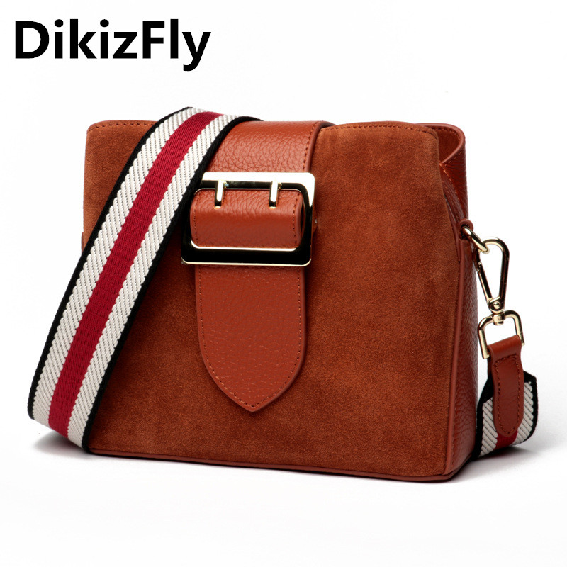 DikizFly Brand Genuine Leather Women Handbags Solid Flap Real Leather Shoulder Bags Vintage Small Messenger Bags Purse lady bag women messenger bags genuine leather single shoulder bags solid small flap women handbags mini classic box