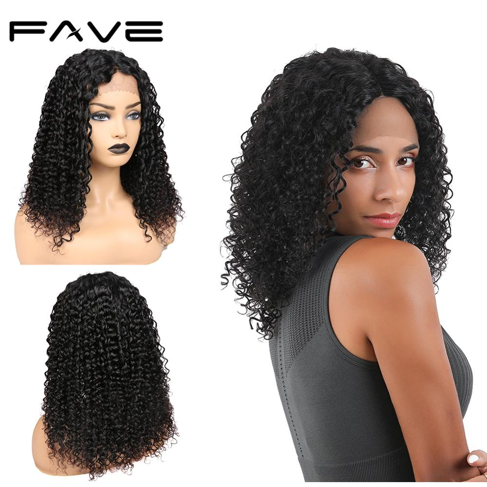 Curly Lace Front Human Hair Wigs Brazilian Remy Lace Part Wig For Black Women Healthy And Thick Hair Free Shipping FAVE Hair