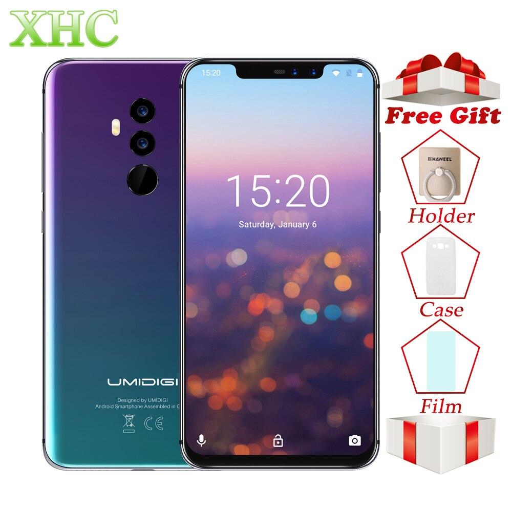 UMIDIGI Z2 двойная LTE 4G смартфон 6 ГБ + 6 4G B Face ID 6,2 ''Android 8,1 Беспроводной быстрой зарядки Octa core Dual 16MP 8MP мобильного телефона