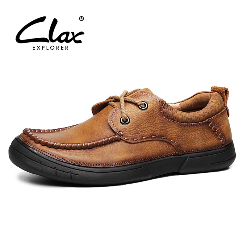 CLAX Mens Shoes Genuine Leather Spring Summer Autumn Casual Footwear Male Fashion Leather Walking Shoe Soft Comfortable mens s casual shoes genuine leather mens loafers for men comfort spring autumn 2017 new fashion man flat shoe breathable