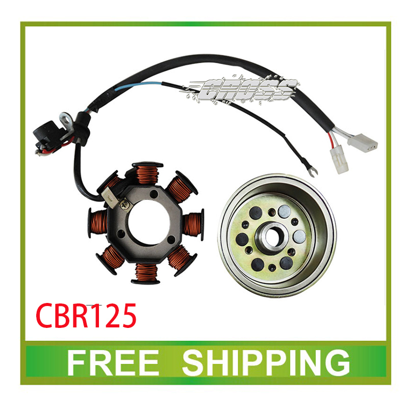 125cc CBR125 motorcycle roller stator magneto coil accessories free shipping 125cc cbt125 carburetor motorcycle pd26jb cb125t cb250 twin cylinder accessories free shipping