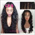 6A Glueless полные человеческих волос парики для чернокожих женщин бразилии девственные волосы парики мокрые волнистые Beyonce перед парики с ребенком волос