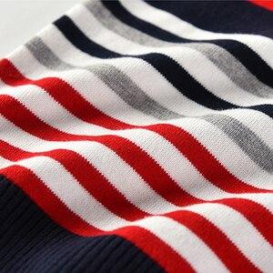 Image 4 - Suéter listrado infantil, blusão de malha para meninos, meninas, primavera e outono, roupas infantis para crianças, 2 a 7 anos, 2020