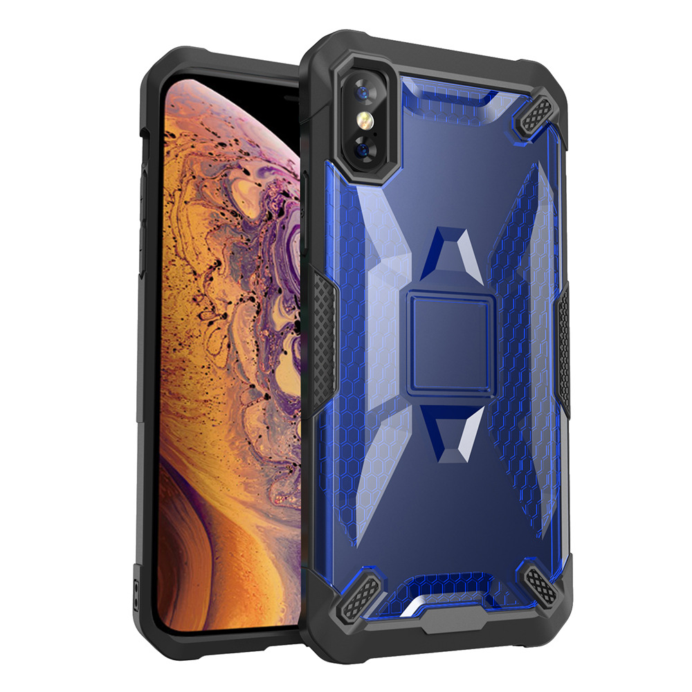 30pcs lot For iPhone XR XS MAX Heavy Duty Case Detachable 2 in 1 Anti Shock