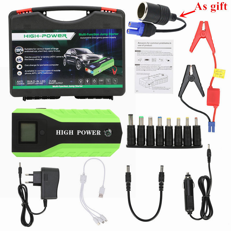 Portable Auto Starting Device 89800mAh 12V Jumper Starter Multi Function 600A Car Starter Car Charger For