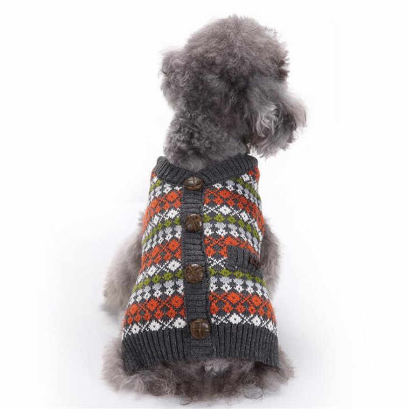 Pet Sweater For Dogs British Style Sweaters Jacket For Small Large Dog  French Bulldog Teacup Puppy Cat Pullover Knitted Clothing