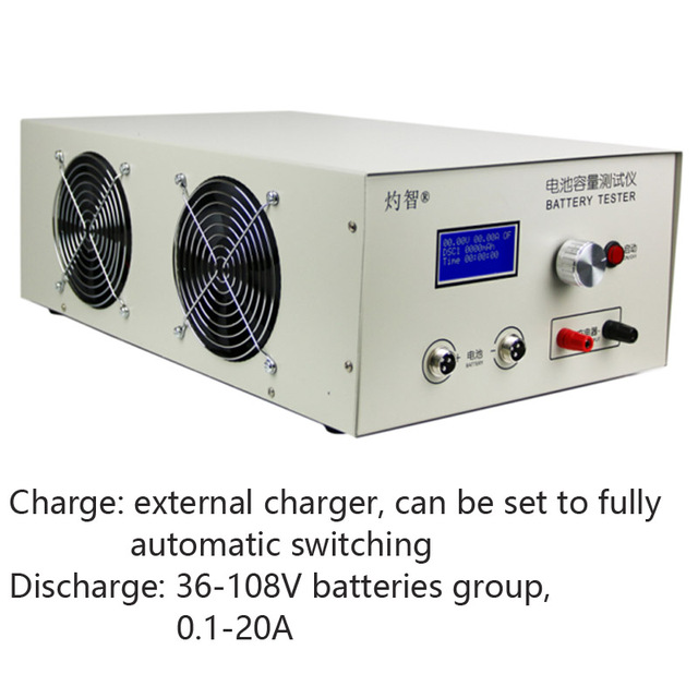 36 108V 20A Lead acid Lithium Battery Discharge Capacity Tester Online Computer Software Support An External Charger