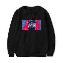 Nipsey Hussle print Men O-Neck Sweatshirt Hip-hop Fans Hoodie Keep warm Boy/girl Black Streetwear