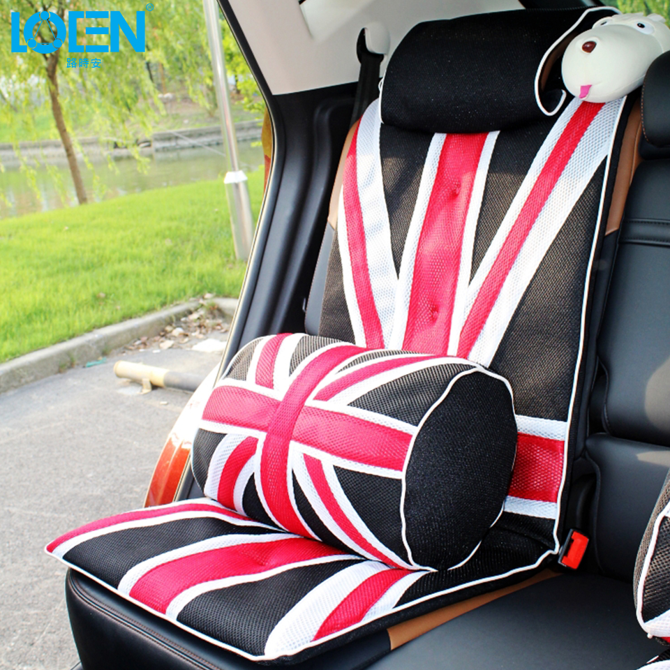 Aliexpress com buy 2017 uk flag 1pc mesh cloth lumbar supports back waist cushion for car chair home rest hugging pillow 44cm car styling universal from
