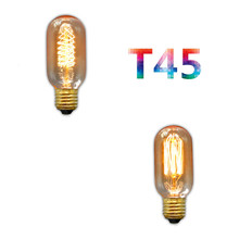 BOKT 2 pcs Vintage Edison Bulb E27 220V Retro Lamp 40W Ampoule Light Incandescent Filament