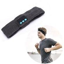 Спортивная повязка для головы для Bluetooth Встроенные беспроводные колонки трикотажные моющиеся съемные наушники Handsfree Yoga Напульсник для бега