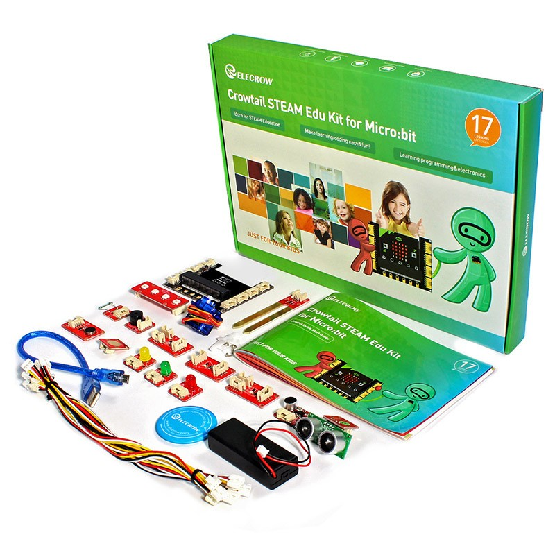 Elecrow Crowtail Micro:bit Learning Programming Kit Electronic DIY Steam Educational Starter Kit For Microbit Makecode Projects
