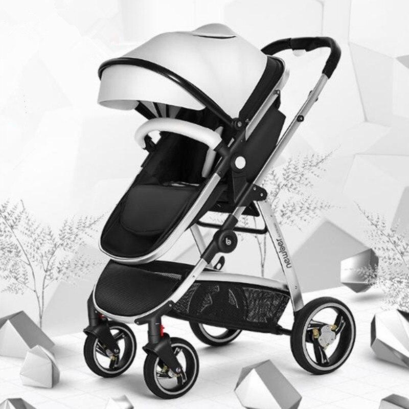 High landscape baby stroller can lie folded light summer newborn big sleep basket child strollers sometimes i lie