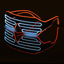 4 Colors Cool Flashing Eyeglass Party Wire LED Light  Halloween Fluorescent Luminous Glowing Glasses Decorations