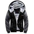2016  C Logo Hoodies Zip Up Printing Pattern Coats Super Warm Thicken Fleece Men's Coat