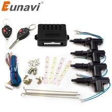 Eunavi Auto car remote central Locking 4 Door Keyless Entry System 360 Degree Rotation kit 12V Car Power Lock Actuator
