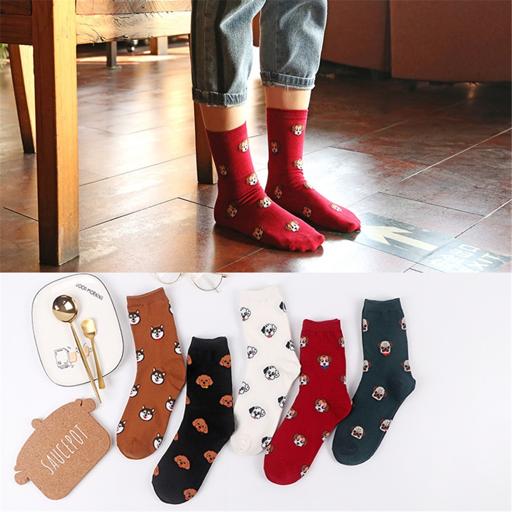 fashion   socks   Women Man Cotton   Socks   Animal Art Animation Character Cute Gift Dress   Sock   calcetines divertidos