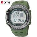 Nuevos OTS 7025G Hombres Deportes Impermeable Verde Del Ejército Correa de Silicona Luminosa Relojes Digitales Relogio masculino 2016 de la moda