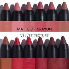Pintalabios langmanni Maquiage, 12 colores, mate, impermeable, color Nude, terciopelo, lápiz labial, belleza sexy, larga duración, lápiz labial rojo, tinte cosmético