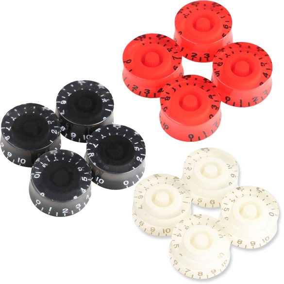 4Pcs Speed Knobs Volume Tone Control for LP Electric Guitar Bass 4 Colors Knobs For Guitar Bass Red Black 25 x 12mm Guitar Part 1 set plastic single coil electric guitar pickup cover 1 volume 2 tone speed control knob guitar switch tip guitar part